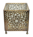 Brass Tabletop Candle Holder with Frosted White Glass - WL182