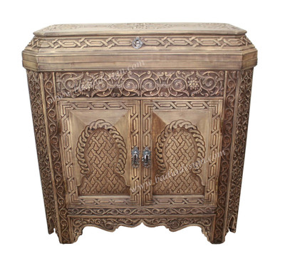 Gentil Beautifully Hand Carved Wooden Cabinet   CW CA040