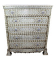 Tall Mother of Pearl Dresser - MOP-DR055