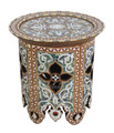 White Mother of Pearl Inlay Side Table - MOP-ST056