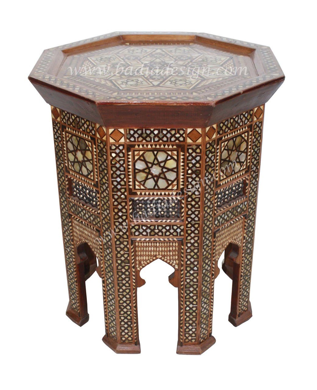 Syrian Design Inlay Side Table Furniture From Badia Design