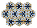 Moroccan Hexagon Shaped Cement Tile - CT098