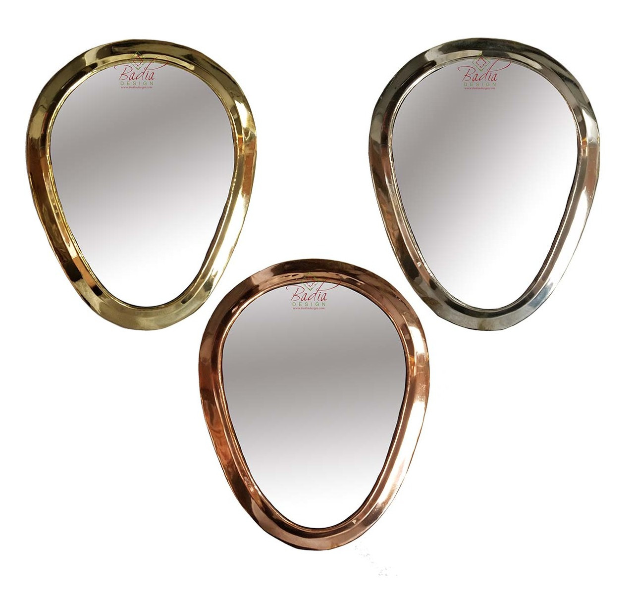 Moroccan Teardrop Shaped Metal Mirrors From Badia Design Inc