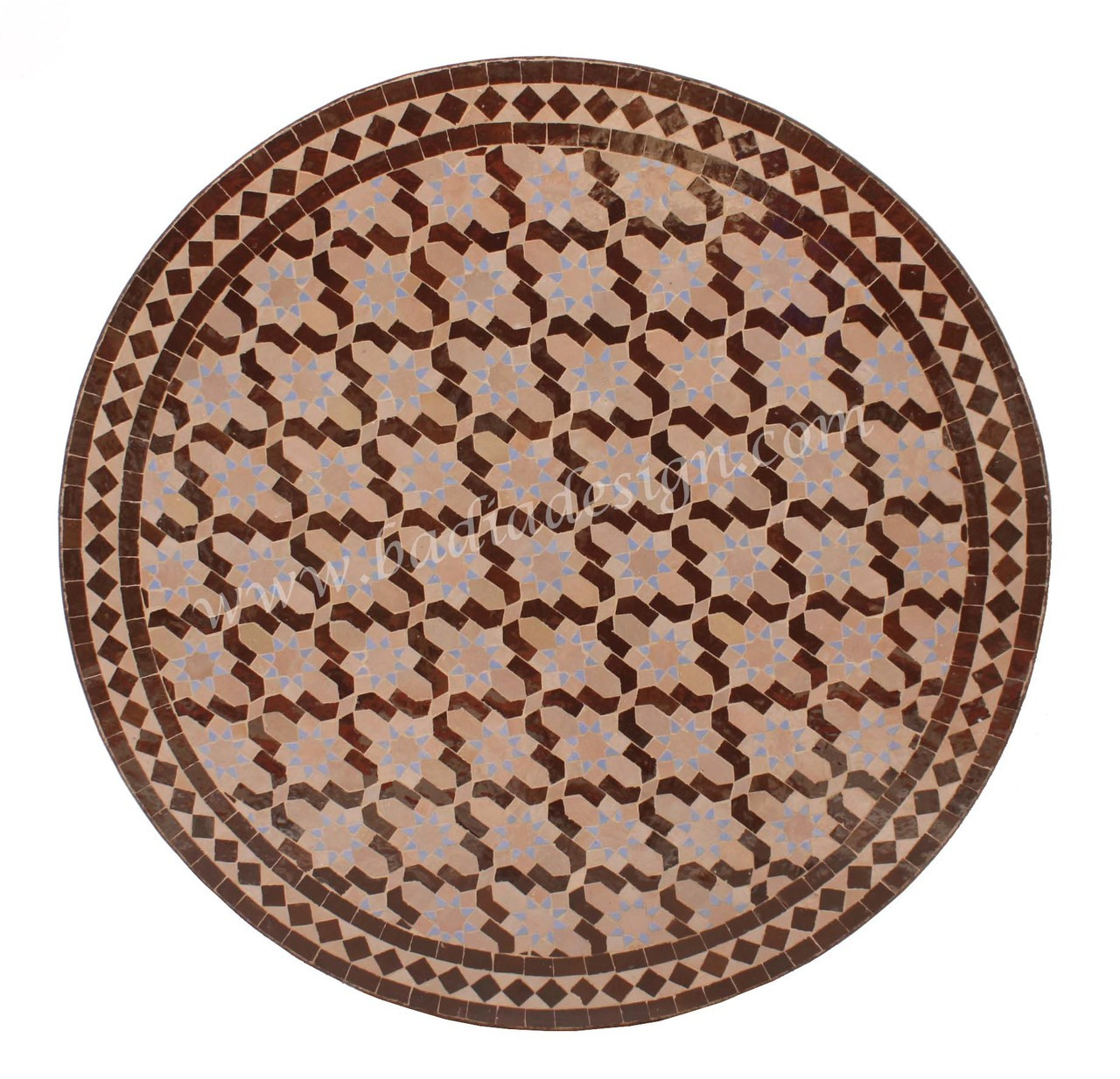 32 Inch Round Mosaic Tile Table Top Mtr245