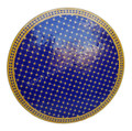 Blue and Yellow Moroccan Mosaic Tile Table Top - MTR428