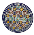 Intricately Designed Moroccan Tile Table Top - MTR255
