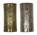 Half Cylinder Brass and Silver Wall Sconce - WL200