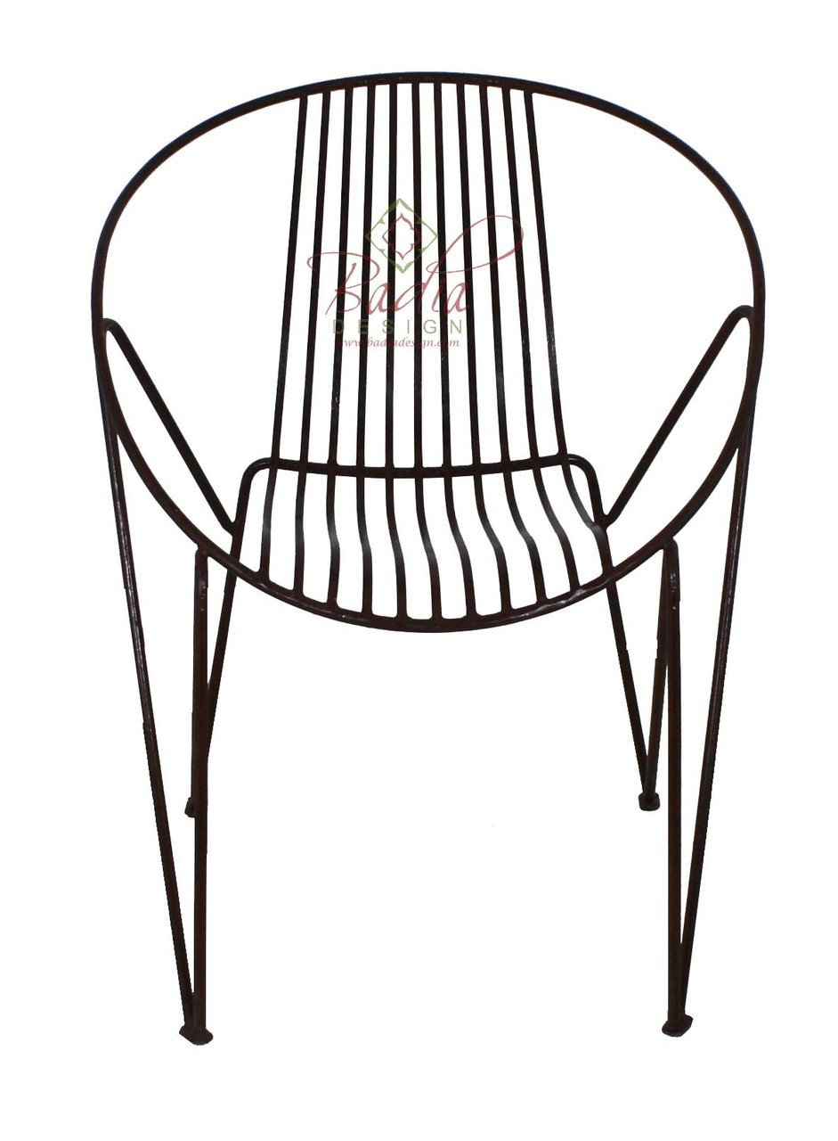 Handmade Wrought Iron Chair From Badia Design Inc