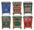 Small Hand Painted Nightstand - HP-CA048
