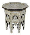 White Mother of Pearl Side Table - MOP-ST090