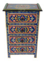 Hand Painted Bedroom Nightstand - HP-CA050