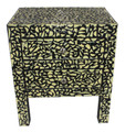 Black and White Camel Bone Nightstand - MB-CA064