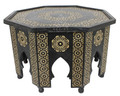 Octagon Shaped Camel Bone Coffee Table - MOP-ST094