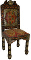 Metal and Bone with Hand Painted Leather Chair - MB-CH009