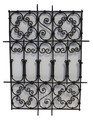 Rectangular Shaped Wrought Iron Panel - IP019
