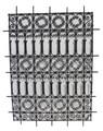Rectangular Shaped Wrought Iron Panel - IP020