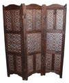 Moroccan Hand Carved Wooden Screen Divider - WPN-018