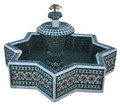 Moroccan Mosaic Star Shaped Floor Water Fountain - MF682
