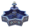 Moroccan Mosaic Star Shaped Floor Water Fountain - MF684