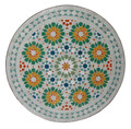 24 Inch Intricately Designed Round Tile Table Top - MTR258