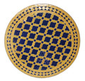 24 Inch Intricately Designed Round Tile Table Top - MTR259