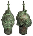 Bronze Metal African Heads - HD223
