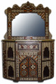 Bone Inlay Cabinet with Mirror - MB-CA007