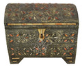 Vintage Metal and Orange Bone Trunk - MB-T012