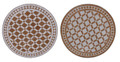24 Inch Intricately Designed Round Tile Table Top - MTR268