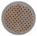 32 Inch Intricately Designed Tile Table Top - MTR272
