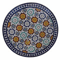 Intricately Designed Moroccan Tile Table Top - MTR274