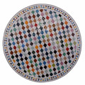 39 Inch Moroccan Mosaic Tile Table Top - MTR325