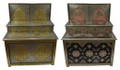 Hand Carved Metal and Bone Cabinet - MB-CA073