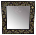 Square Shaped Bone Inlay Mirror - M-MOP040