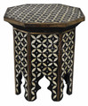 Inlay Camel Bone Side Table - MOP-ST101
