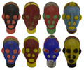 Handmade African Beaded Head Sculptures - HD238