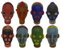 Handmade African Beaded Head Sculptures - HD239