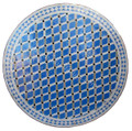 39 Inch Moroccan Mosaic Tile Table Top - MTR462