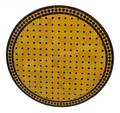 36 Inch Round Moroccan Tile Table Top - MTR277
