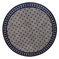 36 Inch Round Moroccan Tile Table Top - MTR281