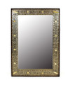 Nickel and Camel Bone Rectangular Mirror M-NB001