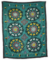 Embroidery Textile Suzani Quilt - SUZQLT015