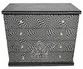 Black and White Bone Inlay Dresser - MOP-DR061
