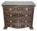 Bone Inlay Dresser with White Marble Top - MOP-DR062
