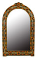 Pointed Arch Top Rectangular Orange Bone-Brass-Horn Mirror M-MB002-ORG