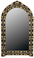 Pointed Arch Top Rectangular Beige Bone-Brass-Horn Mirror M-MB002-BEI