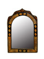 Pointed Arch Top Orange Camel Bone Mirror M-CB002