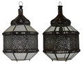 Hanging Lantern with White and Clear Glass - LIG420