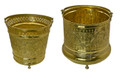 Handmade Brass Bucket - HD249