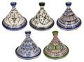 Medium Size Multi Color Ceramic Tajines - TJ015